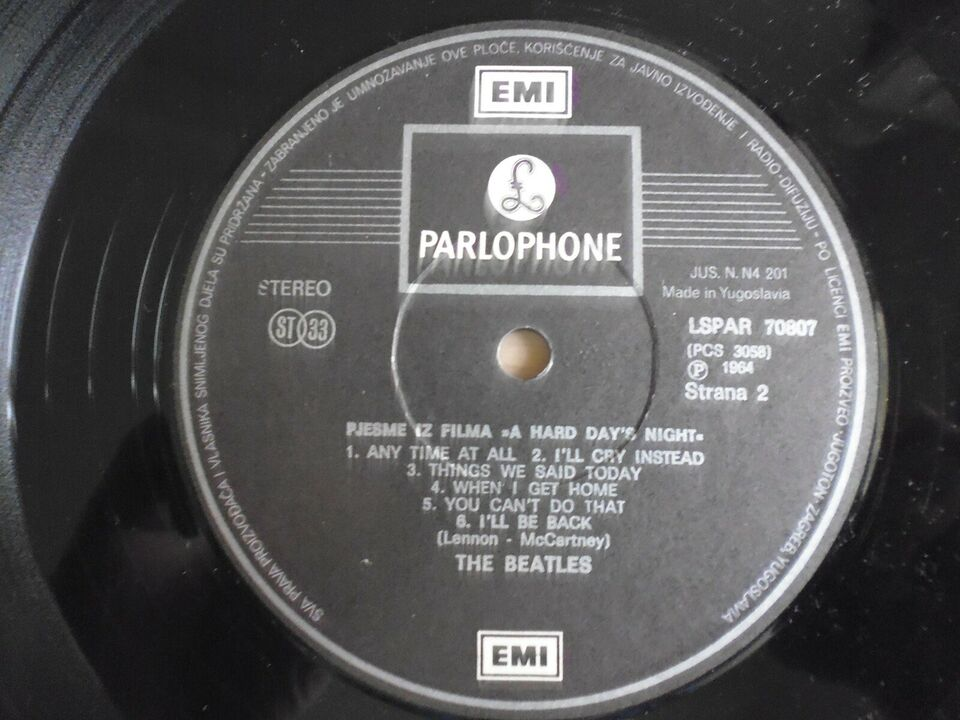 LP, The Beatles, A Hard Days Night