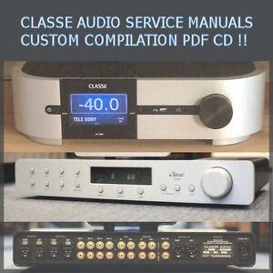 Details about Classe Audio Service Manuals ca-m300 cp-60 dr-5 cp 800 Rare  Custom PDF CD *Nice*