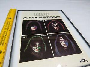 Framed Vintage Kiss 1978 Solo Albums Milestone Ad Aucoin Shogun Warriors 1 Ebay