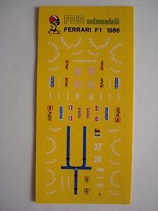DECALS-F1-KIT-FERRARI-F1-86-GP-BRASILE-1986-NEW