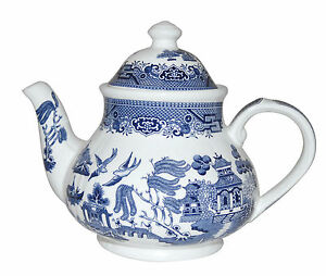 Image Is Loading Blue Willow 40 Oz Teapot Churchill China Made
