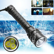50000LM Underwater 50M T6 LED Diving Flashlight Torch Lamp Waterproof LighX/_ti
