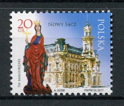 Flight Tracker Poland 2017 Mnh Nowy Sacz City 1v Set Architecture Tourism Religion Stamps