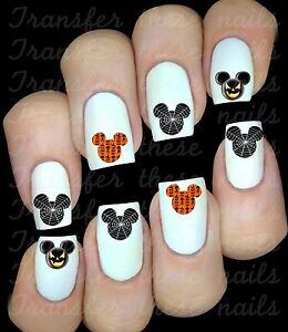 Mickey-Minnie-Mouse-Halloween-30-stickers-autocollant-ongles-manucure-nail-art