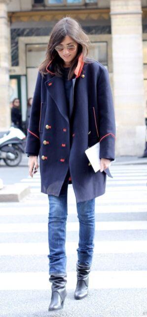 Isabel Marant David Coat Gray FR42 NWT Caroline de Maigret Emmanuelle Alt Runway