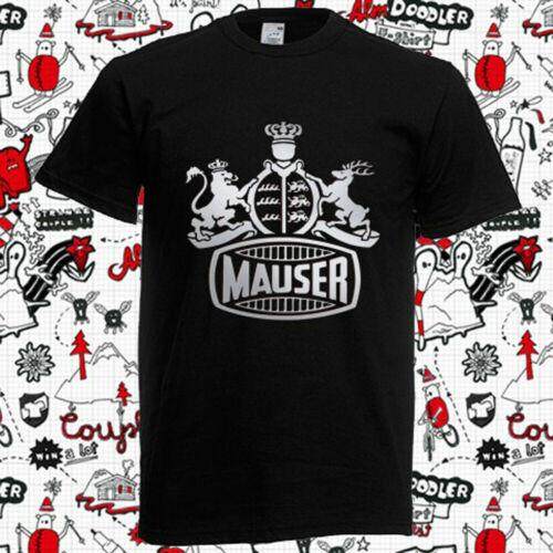 New 5499-Mauser Gun Firearms Logo Men/'s Black T SHIRT SIZE Größe S-5XL