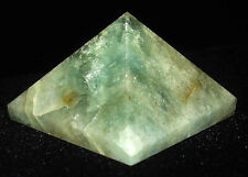 PYRAMID (DISCOUNT : IMPERFECT)- AQUAMARINE Crystal with Description Card & Pouch