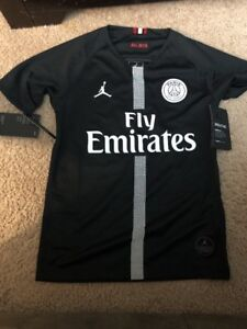 4d0a6267c51e38 Jordan 2018 19 Paris Saint-Germain PSG Third Black Jersey 919253-012 ...