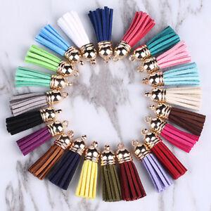 10Pcs-Faux-Suede-Leather-Tassel-Pendant-for-Keychain-Handbag-Cellphone-Decor