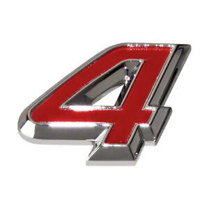 Schriftzug-Logo-4-Allrad-Chrom-Rot-Seat-Leon-Alhambra-Emblem-badge