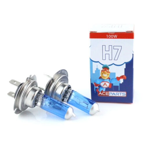 Fits BMW 5 Series E39 H7 100w Super White Xenon HID Front Fog Light Bulbs Pair