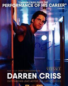 Darren-Criss-Signed-Autographed-8x10-Photo-AMERICAN-CRIME-STORY-VERSACE-COA