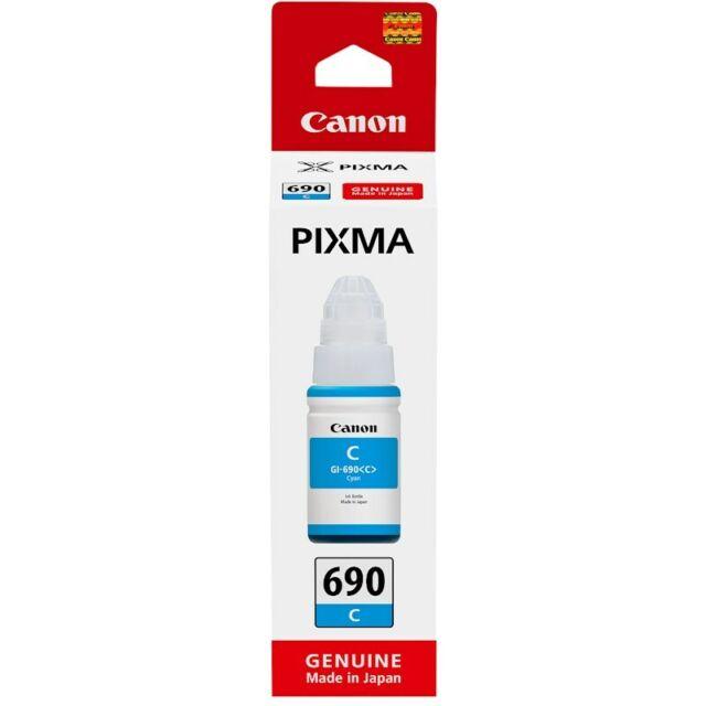 Canon Genuine GI690 Cyan Ink Bottle for PIXMA G SERIES G2600, G3600, G4600