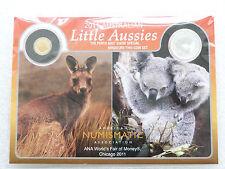 2011 Australia Little Aussies Kangaroo $2 Dollar Gold Koala Silver 2 Coin Set