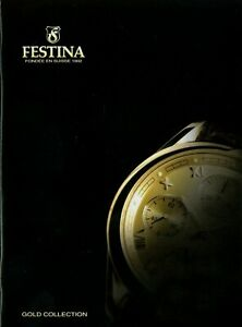 Festina Gold Collection Uhrenkatalog Ca. 2004 Prospekt Uhren Catalog Watches Uhr Quell Sommer Durst