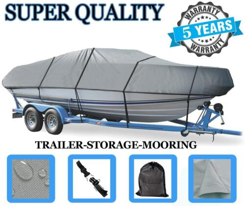 GREY BOAT COVER FITS BAYLINER WAKE CHALLENGER 2080 XD 1997-1998 Towable NEW