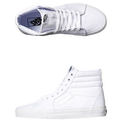 New Vans Women's Sk8 Hi Womens Shoe Suede Canvas White