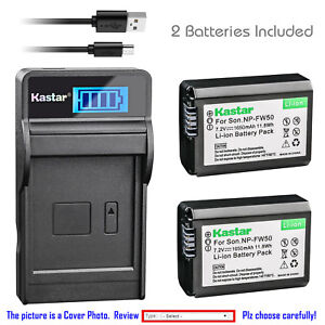 Kastar-Battery-LCD-Charger-for-Sony-NP-FW50-BCTRW-amp-Sony-ILCE-5000-Alpha-a5000