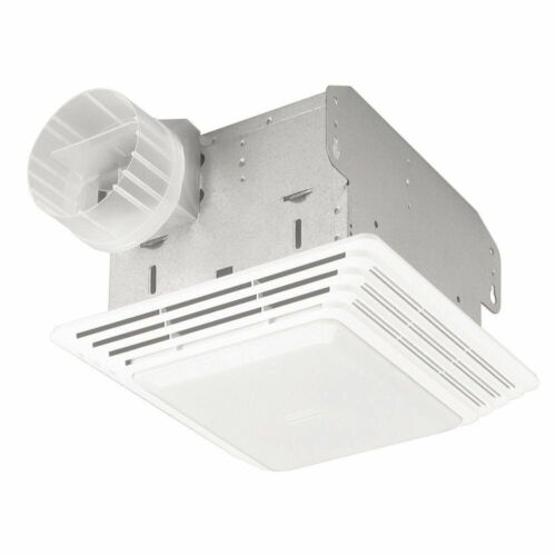 Ventilation Fan Light Combination 100w for Bathtubs Showers w// Tapered Sleeves