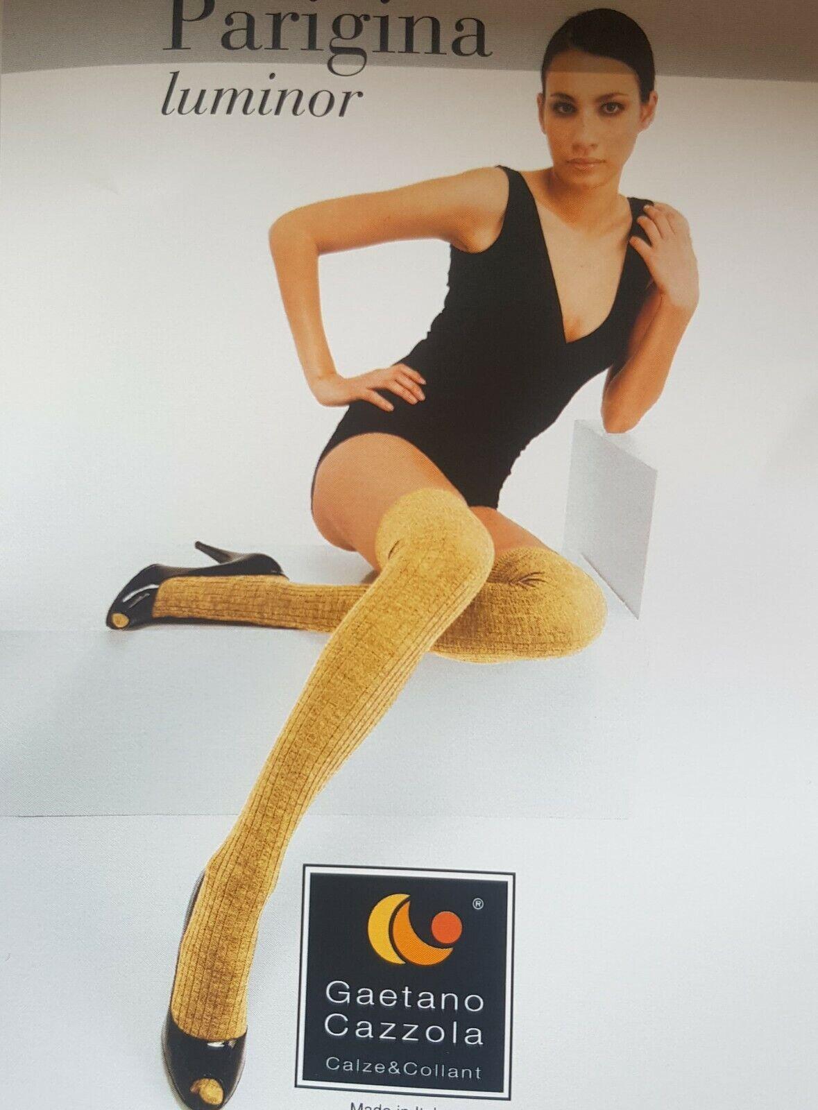 Blickdichte PARIGINA Damen Overknees Strümpfe Einheitsgröße Gold