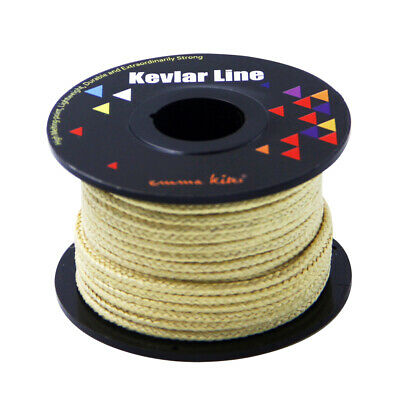 100FT 500LB 1.5MM Braided Line 100/% Kevlar Material for Fishing Camping Kite
