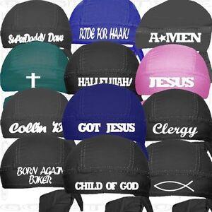 Religion-Christian Jesus Do Skull Cap Church Du Rag Doo Hat Head ... a067b80c5b03