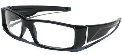 Clear Lens BLACK Glasses Vintage Retro NERD SPECS NEW