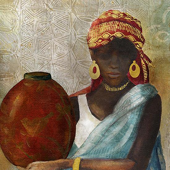Carol Robinson Beauty of Africa II Keilrahmen-Bild Leinwand Frau Afrika Portrait