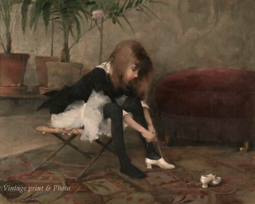 Dancing Shoes by Helene Schjerfbeck  8x10 Print 0526 Little Girl Performer