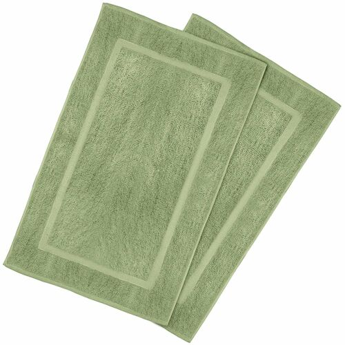 "Luxury Cotton Bath Mat Bathroom Rug Woven Washable 21/""x34/"" 2-Piece Pack Set NEW"