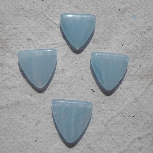 Granos De Cristal Checo ~ 20 X 13mm Aqua Shield granos