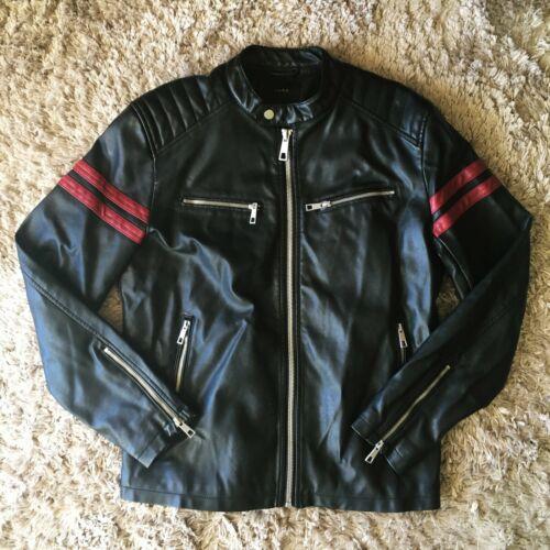 ZARA Man's Faux Leather Biker Jacket - Size M