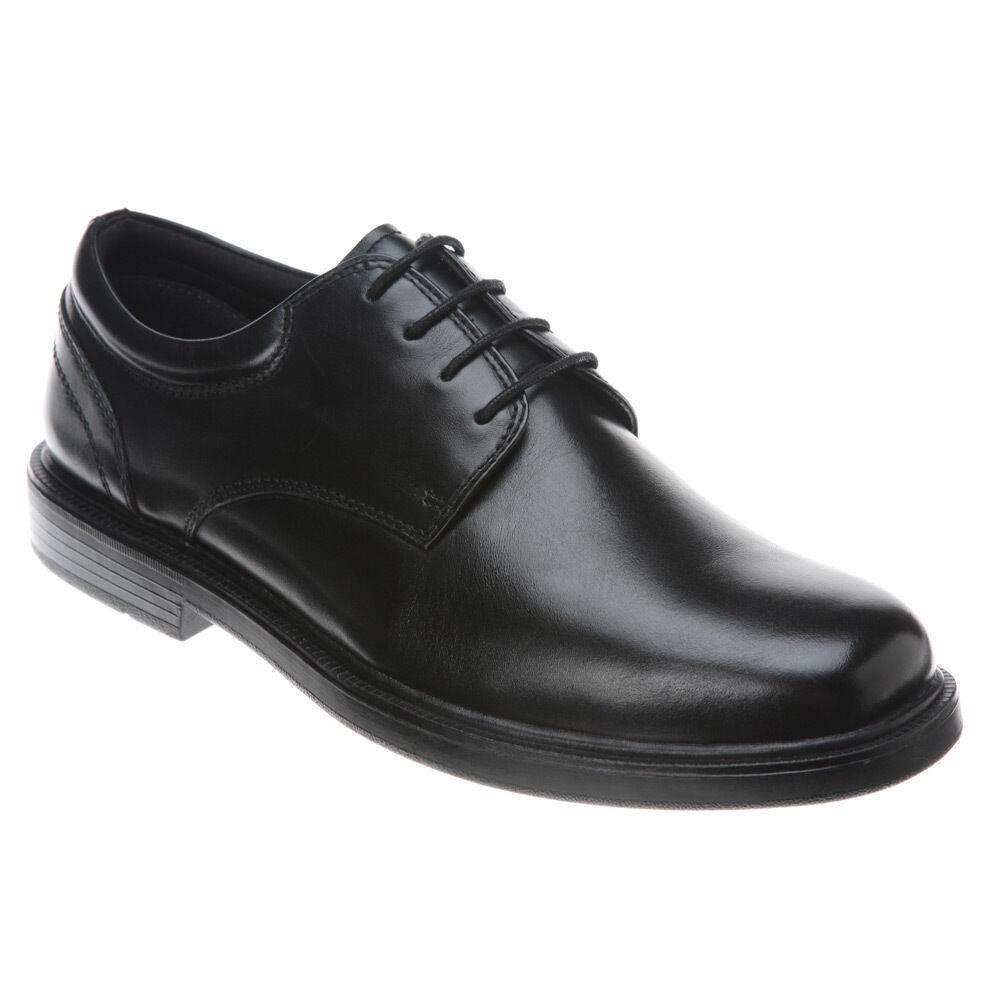 fino al 60% di sconto Nunn Bush Uomo EDDY Plain toe lace-up leather leather leather nero scarpe 84153-001  risparmia il 60% di sconto e la spedizione veloce in tutto il mondo