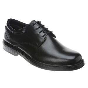 Nunn Bush Men S Eddy Plain Toe Lace Up Leather Black Shoes