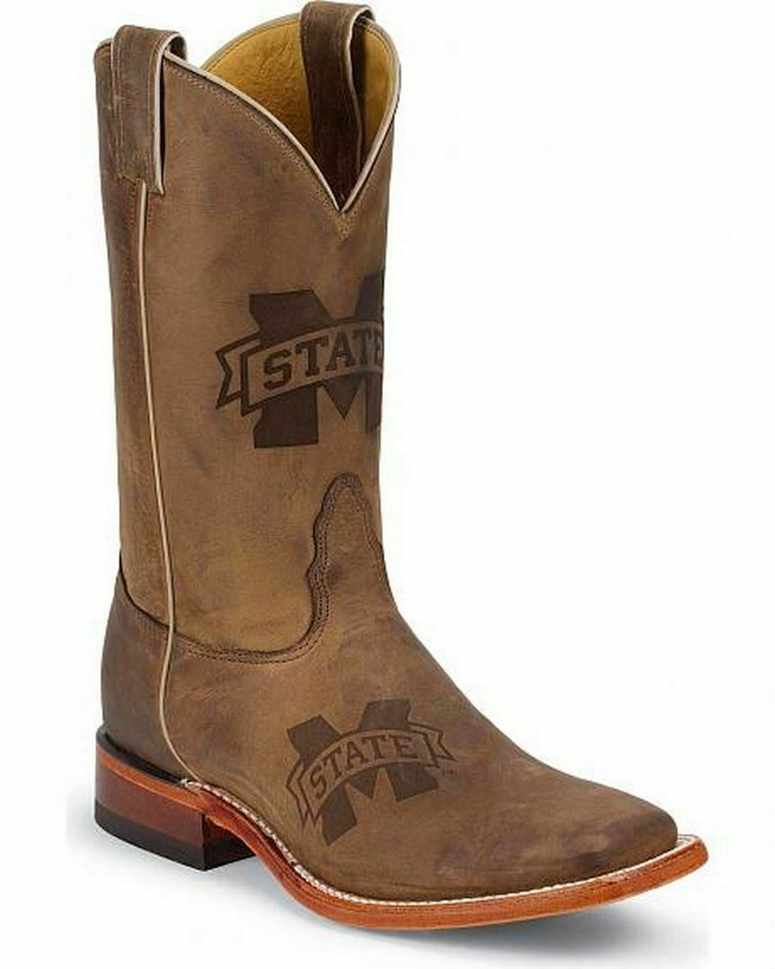 Nocona LDMSU11 Womens Mississippi State Brown Cowhide Branded College Boots