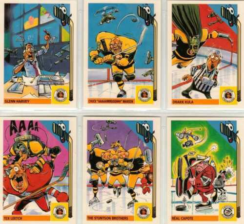 10 Sticker Set of Trading Cards from Action Cards Hockey Freaks Full 100 Card