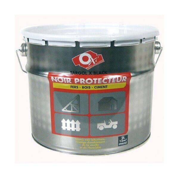 VERNIS BITUMEUX NOIR PROTECTEUR TARGOL X BLACK 2L  humidité fer bois ciment
