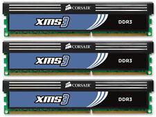 6GB (3x2GB) Corsair DDR3 Triple Channel Kit (PC3-12800) (CMX6GX3M3A1600C9)