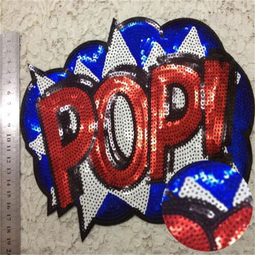 Embroidered iron on patches sequins sequins clothing DIY Motif Applique FO