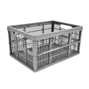 Image Is Loading 32 Litre Foldable Crate Plastic Storage Box Basket