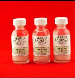 Fresh-And-New-Set-of-3-Mario-Badescu-Drying-Lotion-Anti-Acne-Skincare-1oz-Each