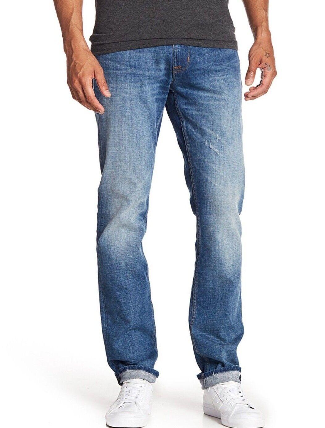 NWT HUDSON JEANS Sz38 BLAKE SLIM STRAIGHT STRETCH jeans DOLLISON blueE