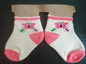 Baby Girl Chaussettes 0-3 Mois-afficher Le Titre D'origine Belle Et Charmante