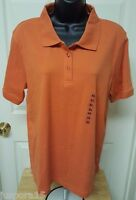 Baxter & Wells Woman's Orange Polo Shirt Size Xl
