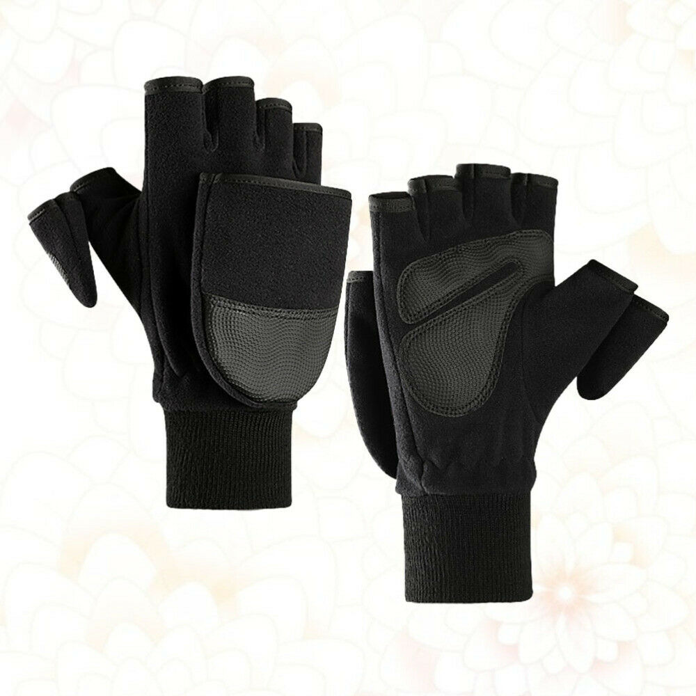 1 Pair of Men PU Anti-slid Palm Durable Thick for Hiking