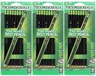 50 Black Dixon Ticonderoga #2 HB Wood Pencils 10 Count Sharpened 13915