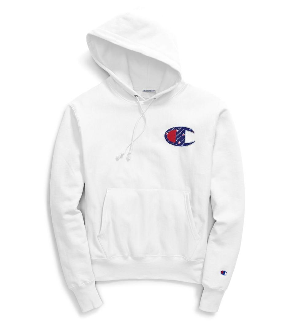 Champion blancoo inversa armadura Sublimada  C Logo Hoodie  tiendas minoristas