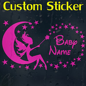 Baby-Girl-039-s-Custom-Decal-Vinyl-Sticker-With-Your-Text-Or-Name-For-Wall-Or-Car