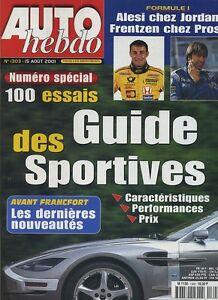 AUTO-HEBDO-n-1303-du-15-Aout-2001-GP-HONGRIE-GUIDE-DES-SPORTIVES