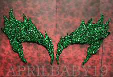 Poison Ivy Leaves Eyebrow Eye mask EMERALD GLITTER GREEN  Cosplay Comic Con Elf